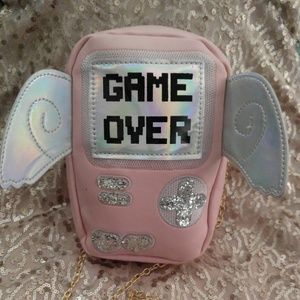 Pink Game Over console shoulder bag